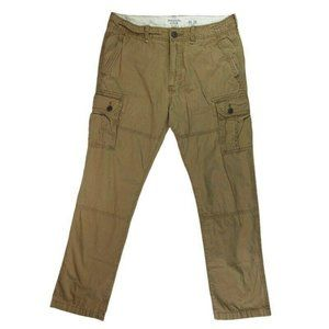 Abercrombie & Fitch Mens Cargo Pants Brown Pockets